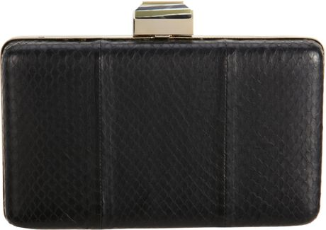 Lanvin Serpent Evening Bag in Black (snake) - Lyst