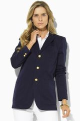 Lauren by Ralph Lauren Taylor Twill Crested Jacket - Lyst