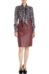 Marc Jacobs Tweed High Waist Skirt - Lyst