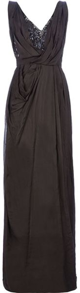 Matthew Williamson Maxi Dress in Gray (charcoal) - Lyst