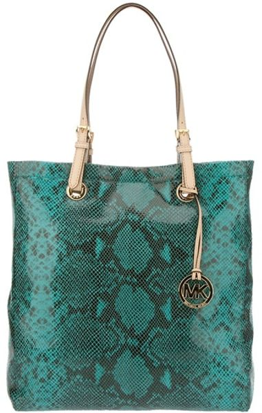michael kors tote bag in blue turquoise lyst