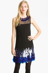 Milly Garance Silk Shift Dress - Lyst