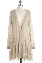 Modcloth Good As Gossamer Cardigan in Beige (natural) - Lyst
