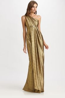 Notte By Marchesa Lamé Gown - Lyst