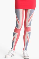 Pretty Polly Union Jack Flag Tights - Lyst