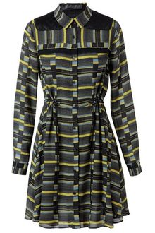 Proenza Schouler Striped Silk Georgette Dress - Lyst