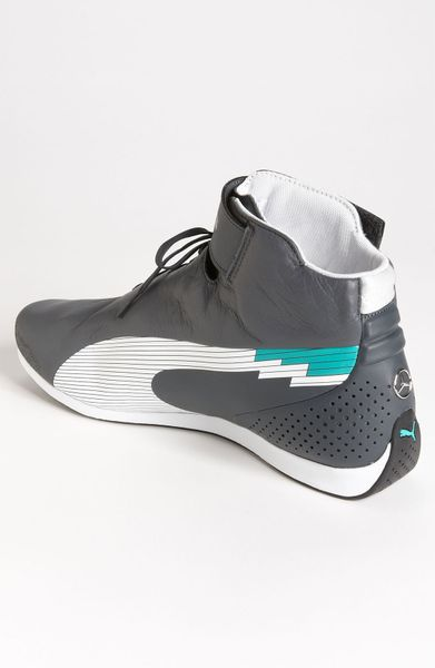 puma mercedes amg petronas evospeed f1 mid sneaker in gray. Black Bedroom Furniture Sets. Home Design Ideas
