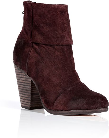 Rag & Bone Burgundy Suede Classic Newbury Boots in Purple (burgundy) - Lyst