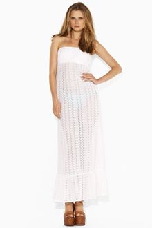 Ralph Lauren Blue Label Desta Crochet Maxi Dress - Lyst
