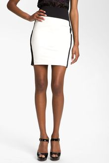 Robert Rodriguez Leather Miniskirt - Lyst