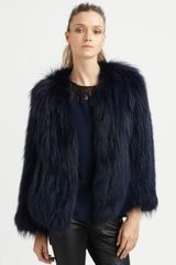 Sachin & Babi Isla Raccoon Fur Jacket in Blue (midnight) - Lyst
