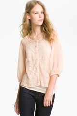 Sanctuary Noir Lace Blouse - Lyst