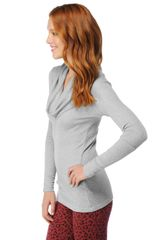 Splendid Thermal Cowl Neck Top in Gray (heather grey) - Lyst
