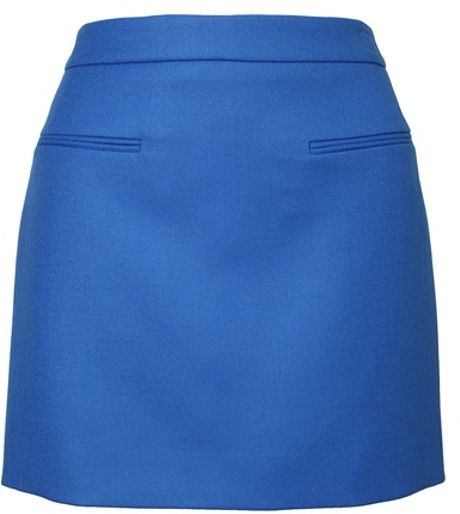 Stella Mccartney Wool Miniskirt in Blue - Lyst