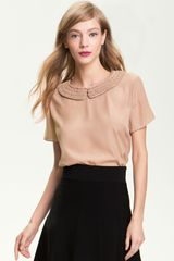 Ted Baker Peter Pan Collar Top - Lyst