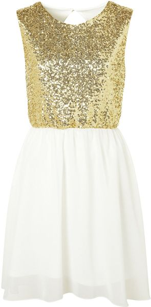 Topshop Backless Sequin Dress By Rare - Lyst