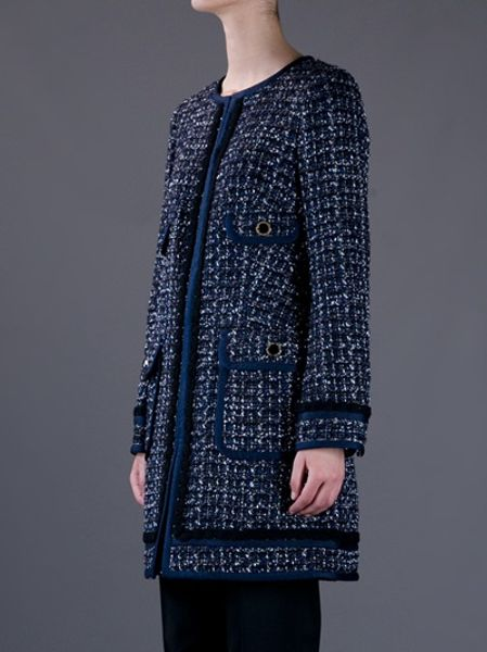 Tory Burch Cassie Tory Burch Tweed Coat in