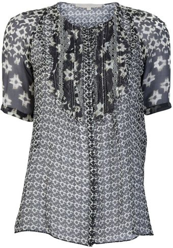 Vanessa Bruno Patterned Sheer Blouse - Lyst