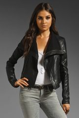 Veda Max Classic Crispy Leather Jacket - Lyst