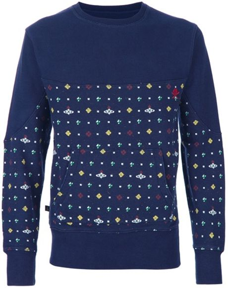 Vivienne Westwood Anglomania Orb Print Sweatshirt in Blue for Men - Lyst