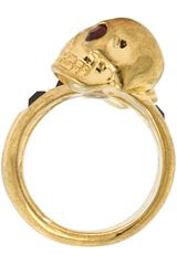 Alexander Mcqueen Twin Ring Ottone in Gold (s) - Lyst