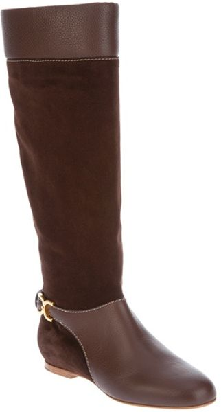 Chloé Buckled Boot in Brown - Lyst