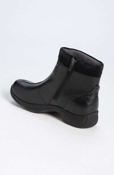 dansko boot in black black milled leather lyst