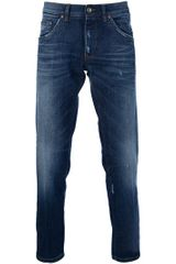 Dolce & Gabbana Stone Washed Jeans in Blue for Men - Lyst