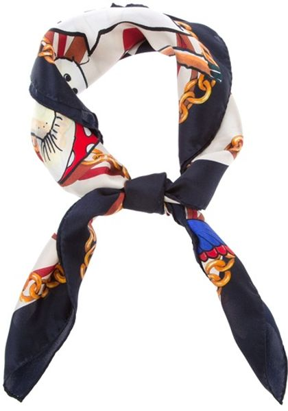 Dsquared2 Printed Scarf in Multicolor (white) - Lyst