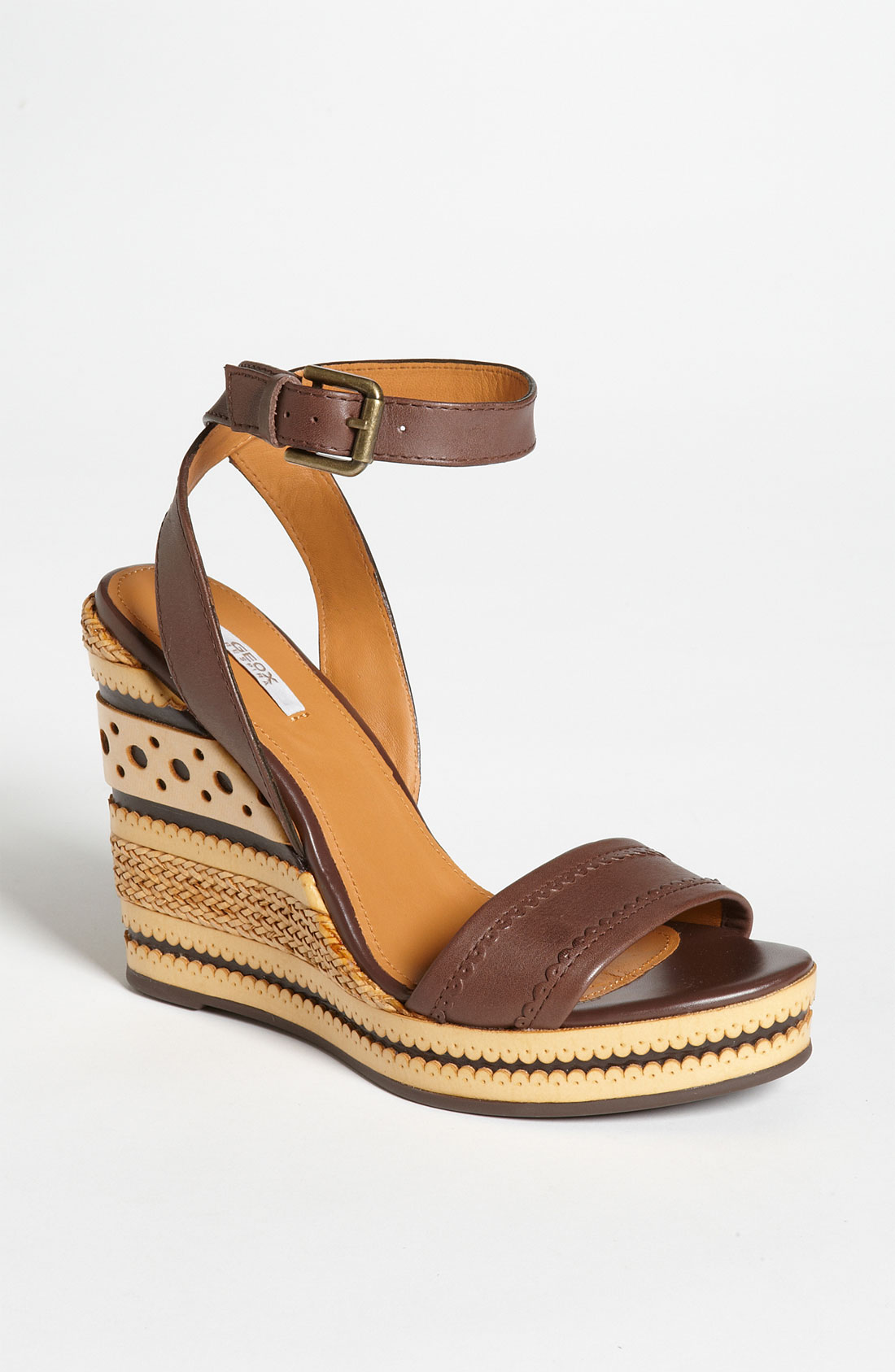Geox Donna Peonia Sandal In Brown Coffee Lyst