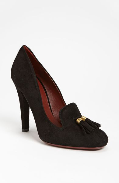 Gucci Mischa Loafer Pump in Black - Lyst
