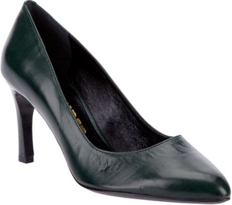 Jil Sander Court Shoe Pump in Green - Lyst