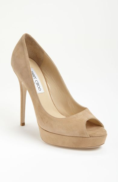 Jimmy Choo Crown Pump in Beige (nude suede) - Lyst