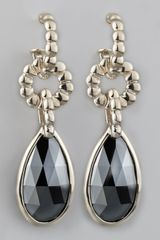 John Hardy Bedeg Hematite Drop Earrings - Lyst