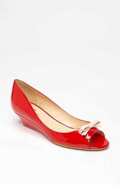 Kate Spade Tracey Pump in Red (red/ cream patent) - Lyst