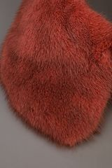 Marni Mink Fur Collar in Red - Lyst