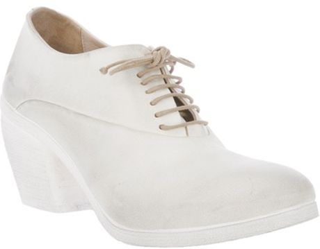Marsell Structured Lace Up Shoe in White - Lyst