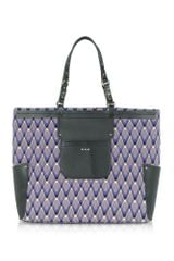 Missoni Woven Diamond and Leather Tote Bag - Lyst
