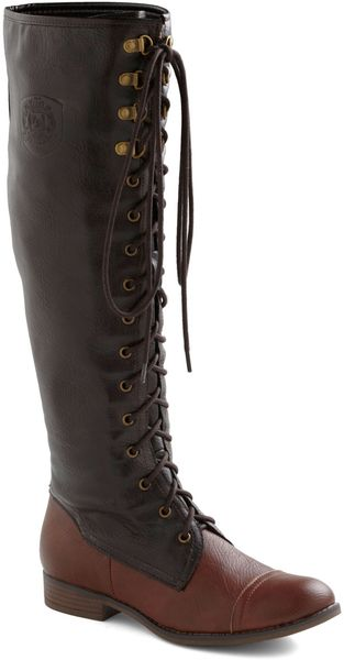 ModCloth Chocolate Craving Boot - Lyst