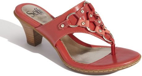 Söfft Reza Slide Sandal in Red (coral) - Lyst