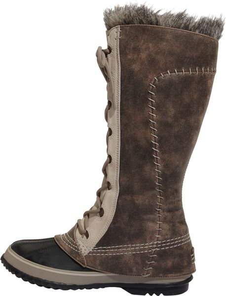 Sorel Cate The Great Boot In Brown Tusk Stone Lyst