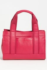 Tory Burch Mini Tory Tote in Purple (magenta) - Lyst