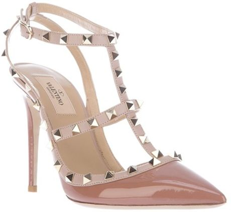 Valentino Studded Sandal in Pink