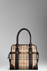 Burberry Medium Haymarket Portrait Tote Bag - Lyst