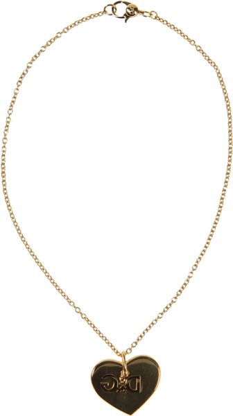 D&g Necklace in Gold - Lyst