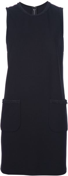 Dolce & Gabbana Sleeveless Shift Dress in Black - Lyst