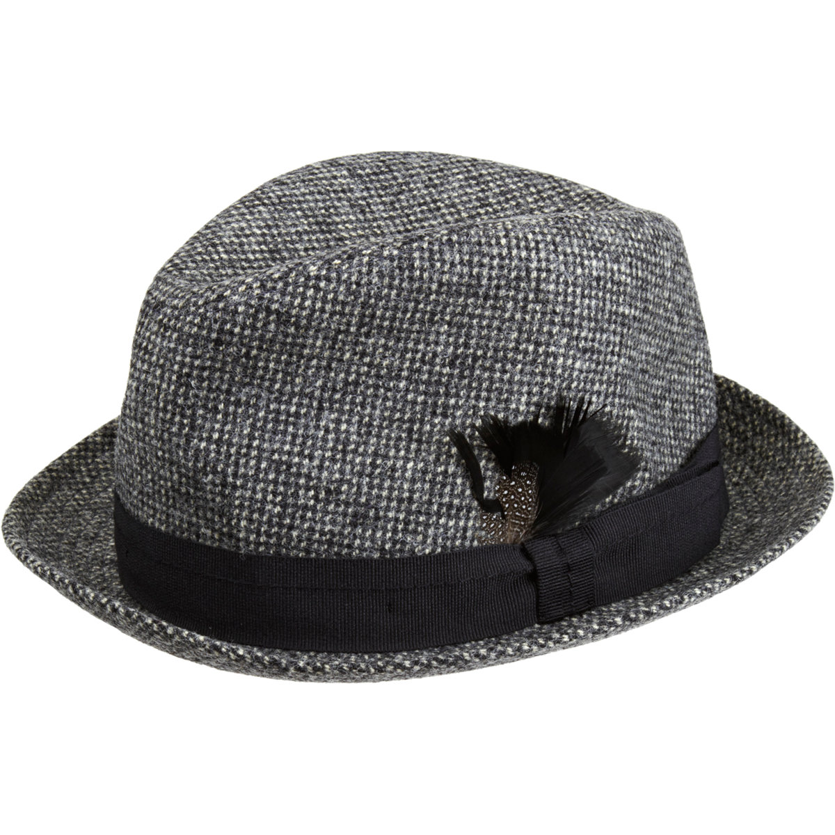 Paul Smith Tweed Trilby Hat in Black for Men - Lyst 9f0d02fcf1e8