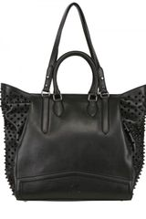 Christian Louboutin Justine Calf Spikes Shoulder Bag - Lyst
