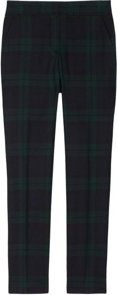 Mcq By Alexander Mcqueen Tartan Wool Pants in Blue (navy) - Lyst