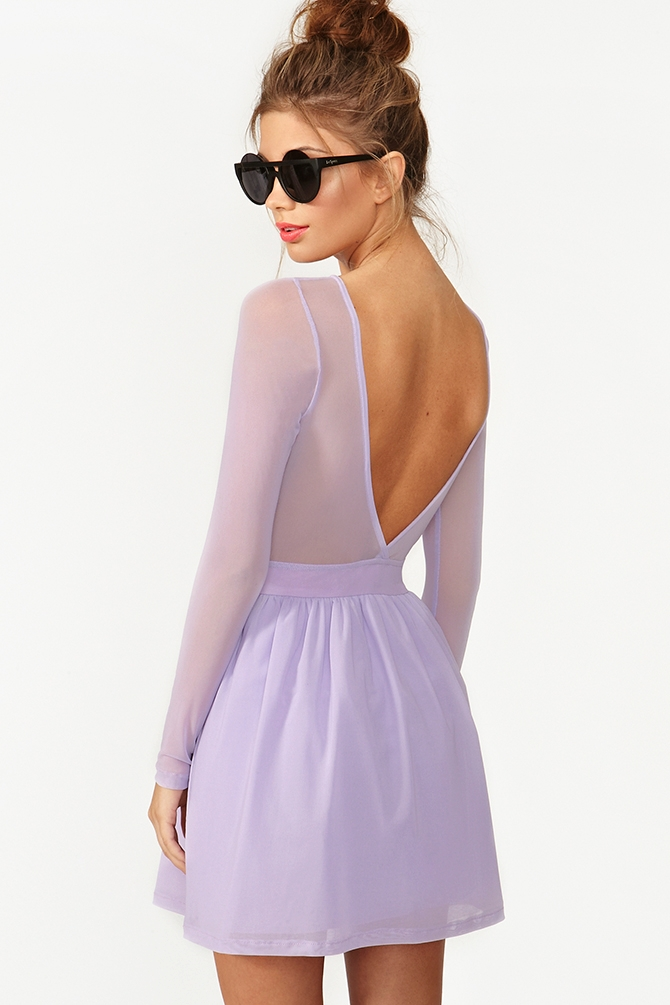 c65402761e Lyst - Nasty Gal Censored Skater Dress in Purple
